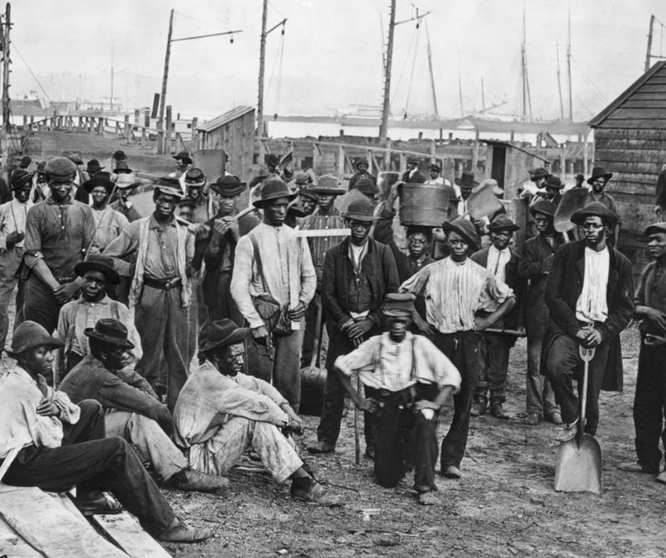 An image of emancipated slaves.