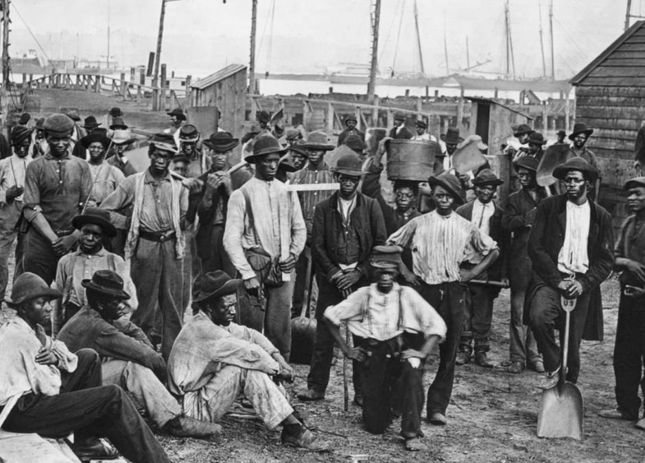 Former slaves in Galveston Texas